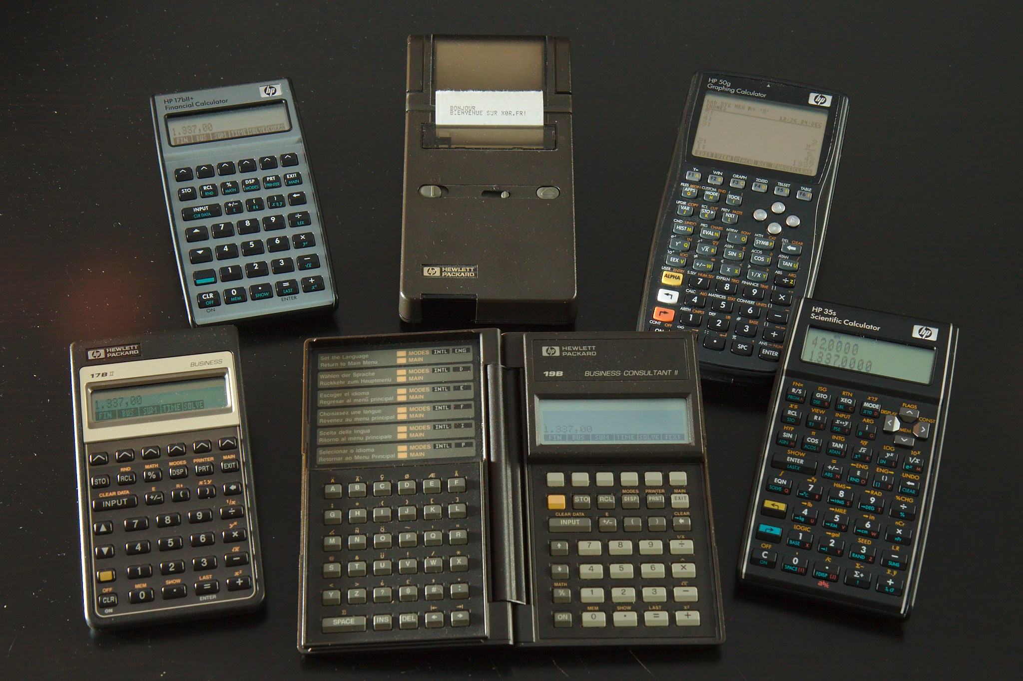 Photo de calculatrices HP